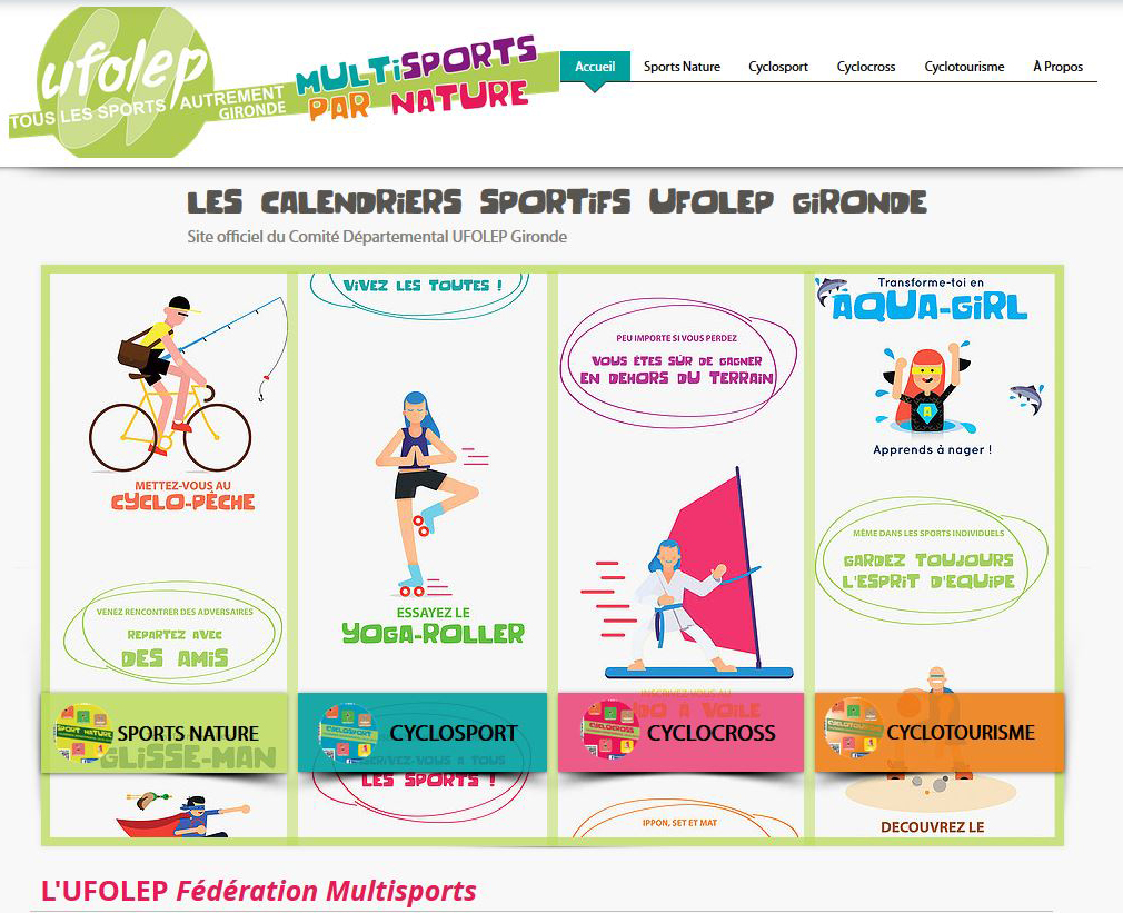 UFOLEP   Gironde :   Les Calendriers sportifs